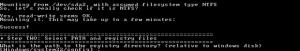 Zugriff auf das Dateisystem erfolgreich