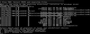 Die Taste 1 setzt im Offline NT Password & Registry Editor das Passwort zurück
