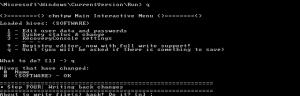 Offline NT Password & Registry Editor beenden und Änderungen speichern