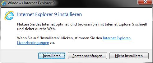 Internet Explorer 9 Installation