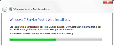 Windows 7 ServicePack 1