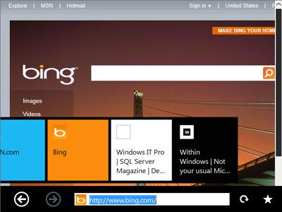 Internet Explorer mit Immersive UI