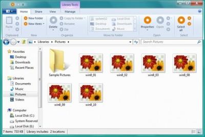 Neue Oberfläche im Explorer von Windows 8