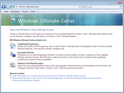 Windows Ultimate Extras
