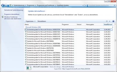 Das Windows Update KB2823324 in der Systemsteuerung