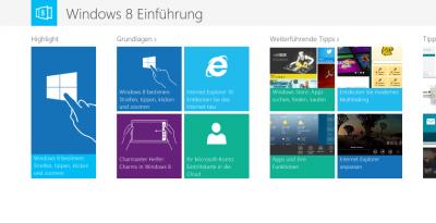 Die App Windows 8 Einführung