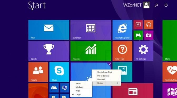 Windows 8.1 Update mit Suchfeld, Kontextmenü und Ausschaltknopf