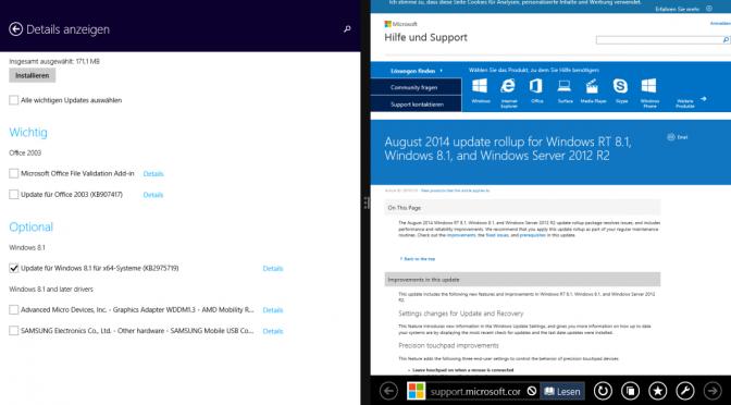 August Update – was von Windows 8.2 übrig geblieben ist