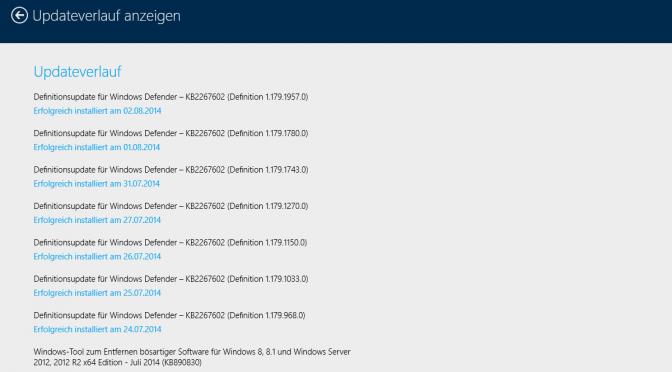 Windows 8.1 Update 2 am 12.August