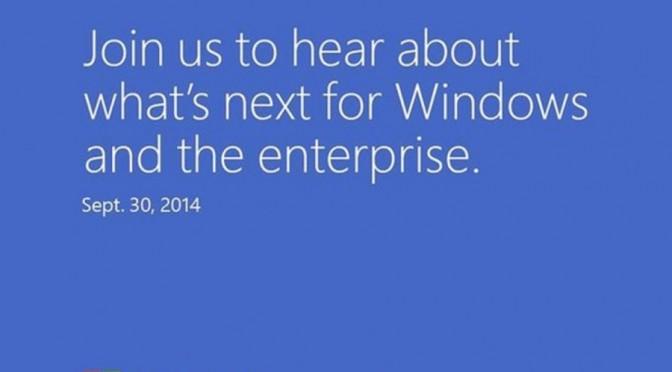 Windows 9 am 30. September