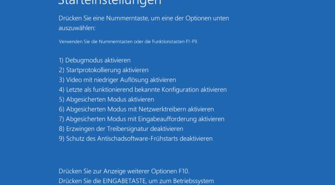 Letzte als funktionierend bekannte Konfiguration in das Windows 10 Bootmenü einbauen
